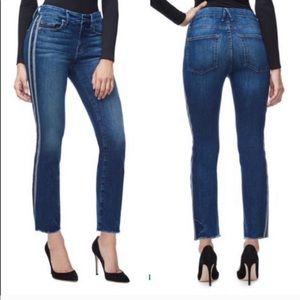 Good Straight Stripe High Waist Jeans - Size 10/30